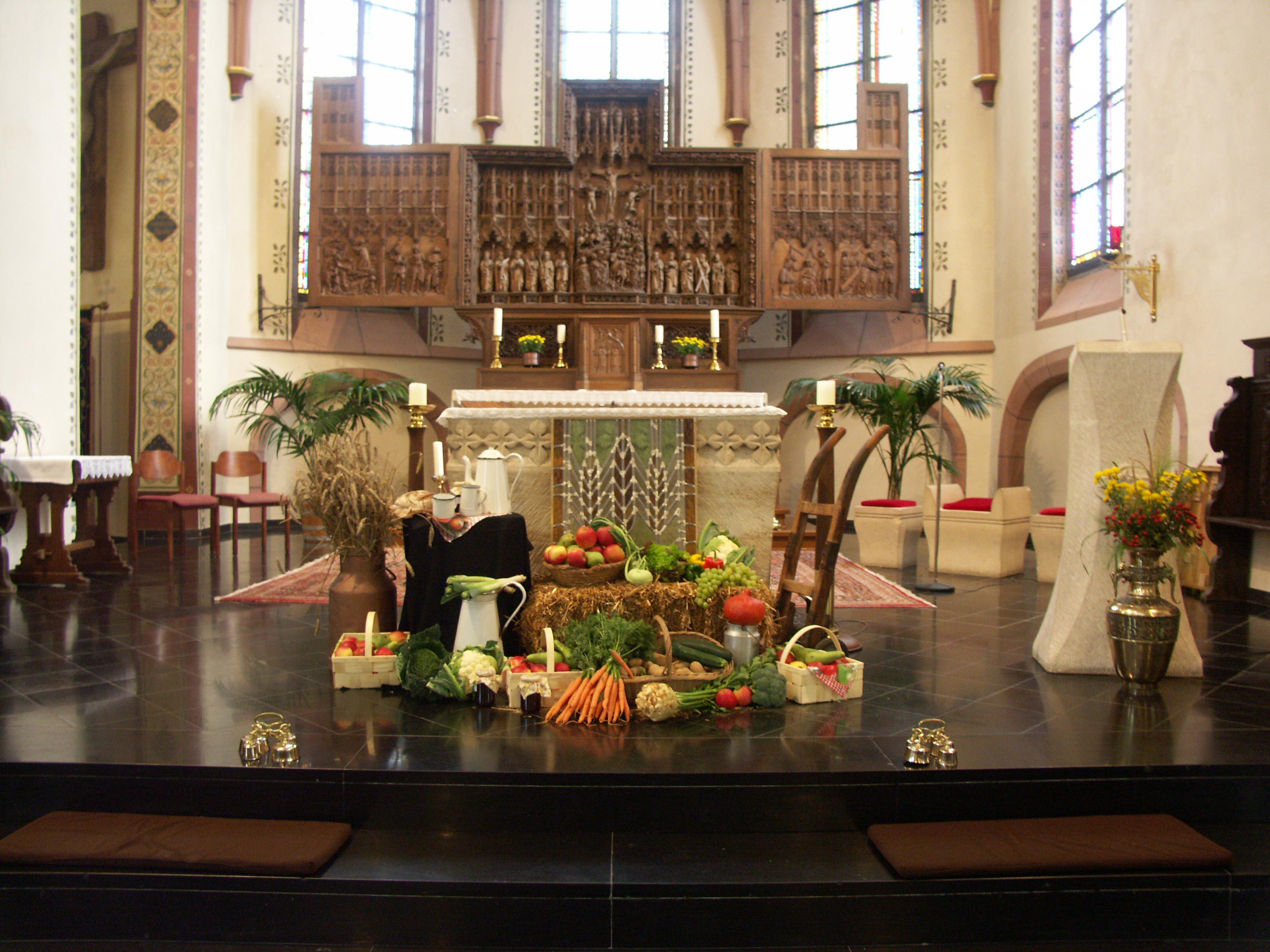 Erntedank in Griether Kirche